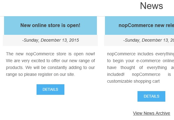 nopCommerce news