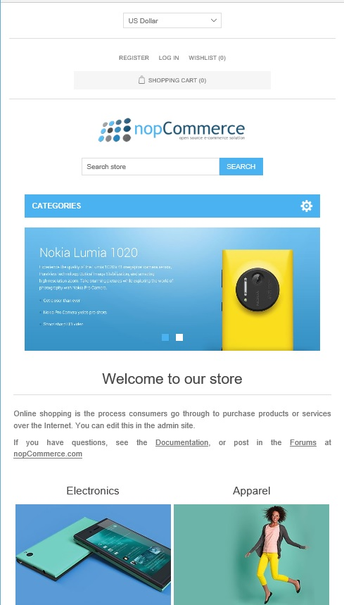 nopcommerce theme