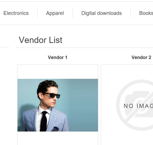 nopcommerce vendor