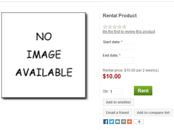 Add rental product in nopCommerce