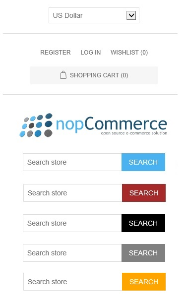nopcommerce search button
