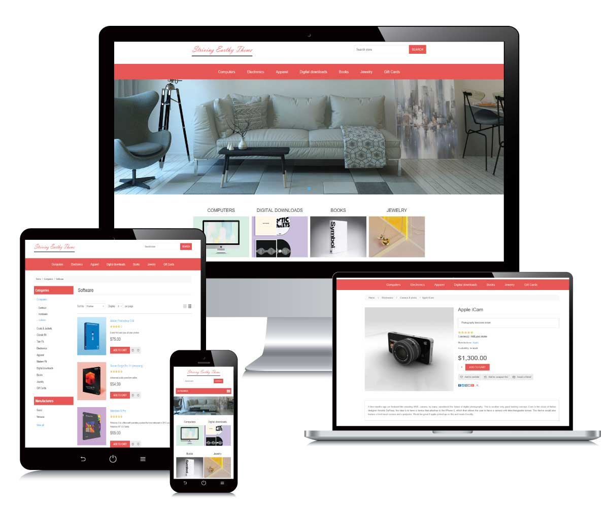 Striving Earthy nopCommerce Theme