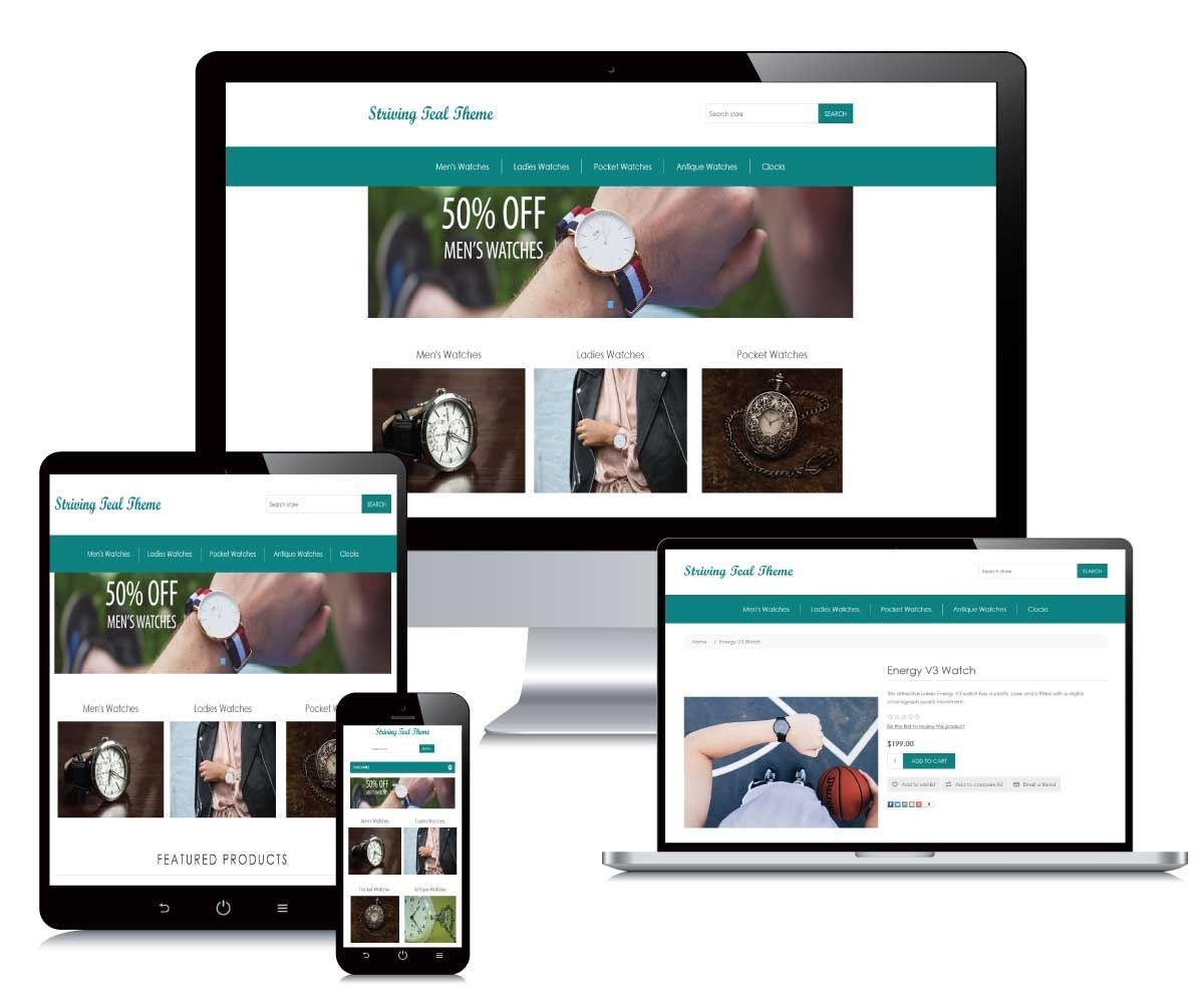 striving teal theme nopcommerce theme free responsive theme for